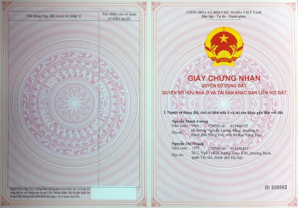 Giấy chứng nhận quyền sử dụng đất - Thông tin bạn cần biết - Global Vietnam  Lawyers